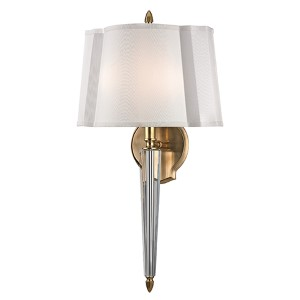 Oyster Bay Aged Brass Two-Light Wall Sconce