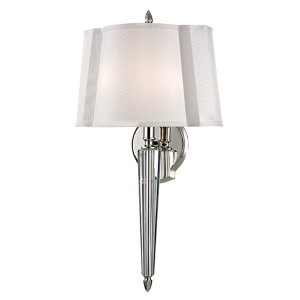 Oyster Bay Polished Nickel Two-Light Wall Sconce