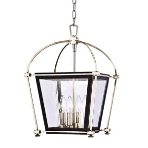 Hollis Polished Nickel Four-Light 19-Inch Pendant with Clear Glass