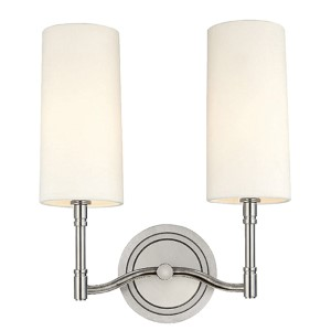 Dillion Polished Nickel Two-Light Sconce
