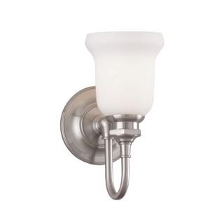 Plymouth Satin Nickel One-Light Bath Light