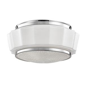 Odessa Polished Nickel Two-Light Flushmount