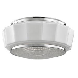 Odessa Polished Nickel Three-Light Flushmount
