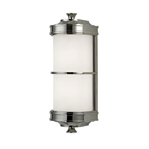Albany Polished Nickel One-Light Wall Sconce