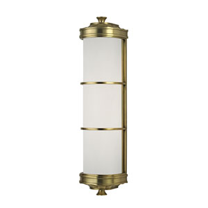 Albany Aged Brass Two-Light Wall Sconce