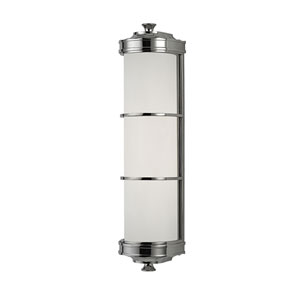 Albany Polished Nickel Two-Light Wall Sconce