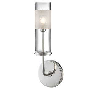 Wentworth Polished Nickel One-Light Wall Sconce