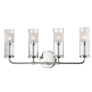 Wentworth Polished Nickel Four-Light Wall Sconce