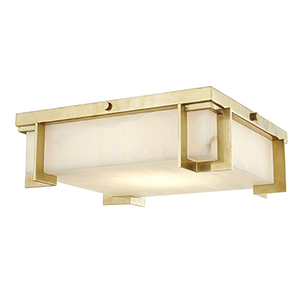 Delmar Aged Brass LED 13-Inch Flush Mount