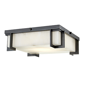 Delmar Old Bronze LED 13-Inch Flush Mount