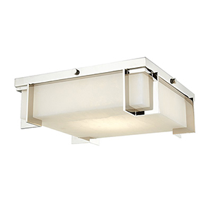 Delmar Polished Nickel LED 13-Inch Flush Mount
