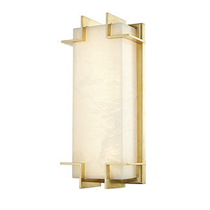Delmar Aged Brass LED 6.5-Inch Wall Sconce