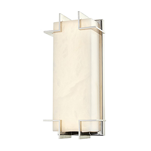 Delmar Polished Nickel LED 6.5-Inch Wall Sconce