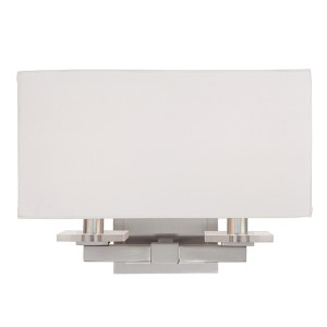 Montauk Satin Nickel Two-Light Sconce