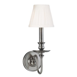 Menlo Park One-Light Antique Nickel Sconce