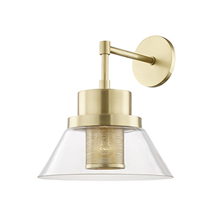 Paoli Aged Brass 1-Light 12-Inch Wall Sconce