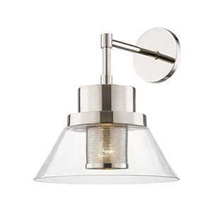 Paoli Polished Nickel 1-Light 12-Inch Wall Sconce