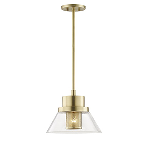 Paoli Aged Brass 1-Light 12-Inch Pendant