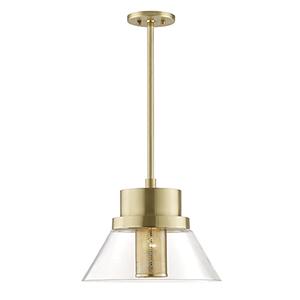 Paoli Aged Brass 1-Light 15.5-Inch Pendant