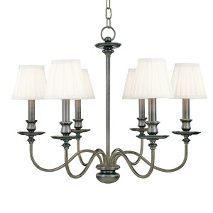 Menlo Park Six-Light Antique Nickel Chandelier