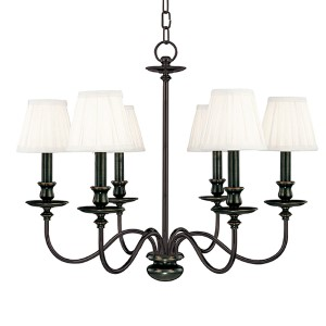 Menlo Park Six-Light Old Bronze Chandelier