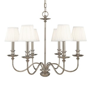 Menlo Park Six-Light Polished Nickel Chandelier
