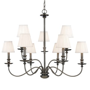 Menlo Park Nine-Light Antique Nickel Chandelier