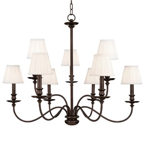 Menlo Park Nine-Light Old Bronze Chandelier
