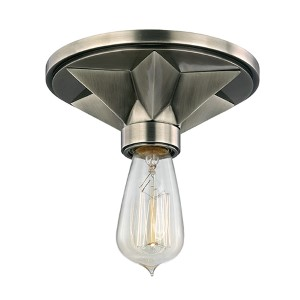 Bethesda Aged Silver One-Light Semi Flush Light Fixture