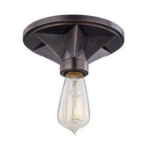 Bethesda Old Bronze One-Light Semi Flush Light Fixture