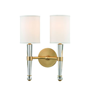 Volta Aged Brass Two-Light Wall Sconce