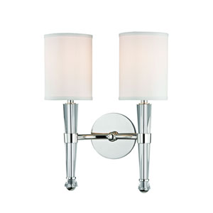 Volta Polished Nickel Two-Light Wall Sconce