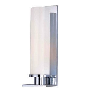 Thompson Polished Chrome One-Light Bath Light with Opal Glossy Glass
