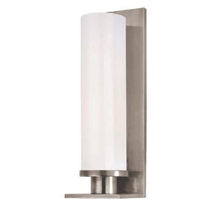 Thompson Polished Nickel One-Light Bath Light with Opal Glossy Glass