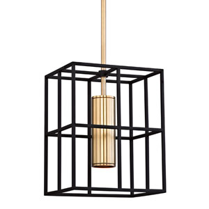 Lagrange Aged Brass One-Light Pendant