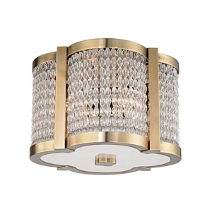 Ballston Aged Brass 12-Inch Four-Light Flush Mount