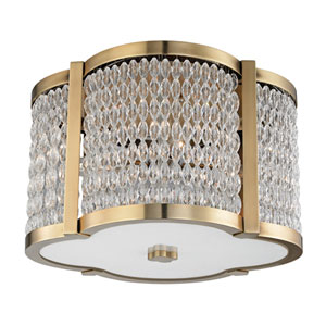 Ballston Aged Brass 16-Inch Four-Light Flush Mount