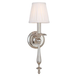 Quincy Polished Nickel One-Light Wall Sconce