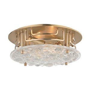 Holland Aged Brass Two-Light Semi-Flush