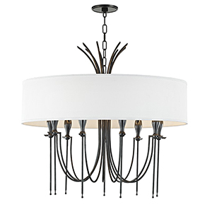 Damaris Old Bronze 9-Light 30-Inch Chandelier
