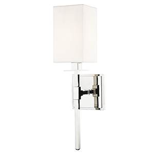 Taunton Polished Nickel 1-Light 4.5-Inch Wall Sconce