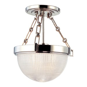 Winfield Polished Nickel Semi Flush