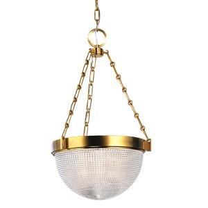 Winfield Aged Brass Two-Light Pendant