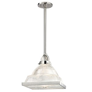 Harriman Polished Nickel One-Light 17-Inch High Pendant