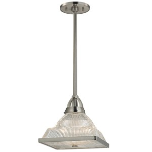 Harriman Satin Nickel 17-Inch High One-Light Pendant