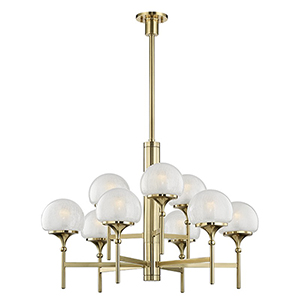 Salem Aged Brass 9-Light 36-Inch Chandelier