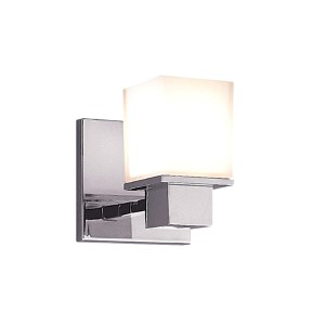 Milford Polished Chrome One-Light Bath Fixture