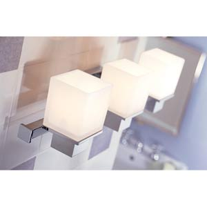 Milford Polished Chrome Three-Light Bath Fixture