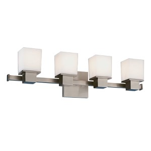 Milford Satin Nickel Four-Light Bath Fixture