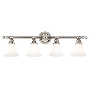 Weston Four-Light Polished Nickel Bath Fixture
